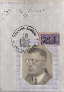 R.R. Pel, vervalst persoonsbewijs-voorkant (collectie R.R. Pel)